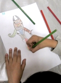 Alex dibujando a los 10 años.