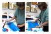 Anaïs pintando a los 9 años.