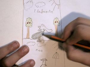 Dibujo de Jimena a los 6 años.