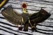 Dios egipcio 'Ra' interpretado por Óscar a los 10 años.