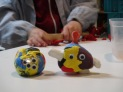 Figuras modeladas por Iván y Jimena (6 años).