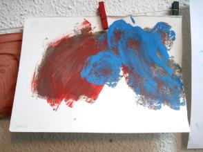 Pintura de Darío a los 5 años.