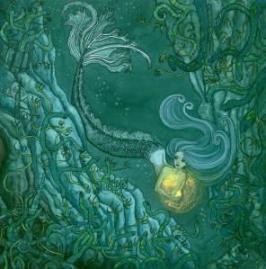 Ilustradora María Espejo. La Sirenita.