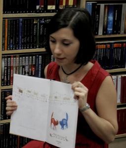 Taller 'Gato rojo, gato azul' en la Librería Antonio Machado.