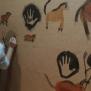 Taller Cuaderno de viaje de Darwin en la biblioteca de Villaverde. Pintura rupestre.