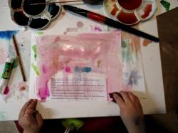 Jimena trabajando las texturas