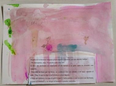 El hijo del molinero se lamenta de haber heredado solo un gato. Ilustración de Jimena.