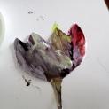 La Flor de Loto en la que descansaba el dios Atum. Pintada por Mirella (4 años)..